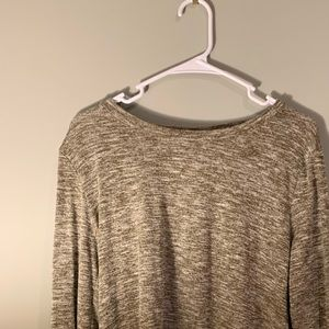 Belle Du Jour Olive Criss-Cross Sweater Top